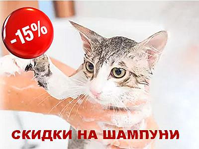 Скидка 15% на шампуни