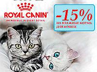 Скидка -15% на Влажные корма Royal Canin