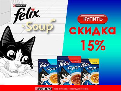 Скидка -15% Felix суп