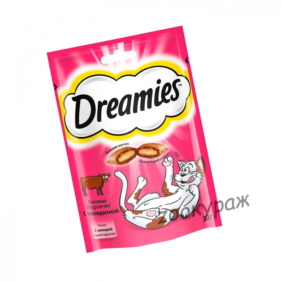 Dreamies лакомство для кошек с говядиной 30 гр*10